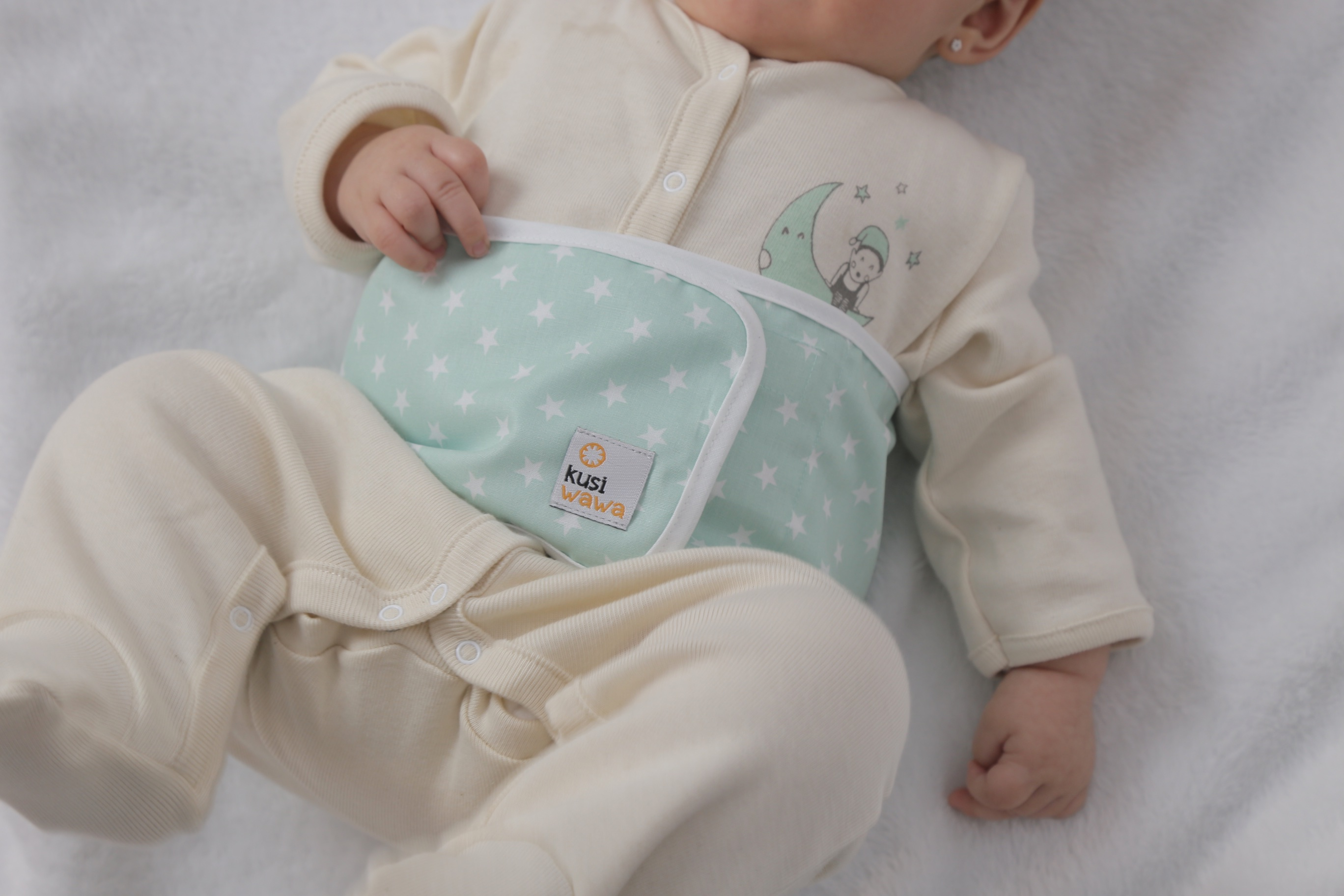 The thermal pad of the Wawa Band to alieviate baby colic