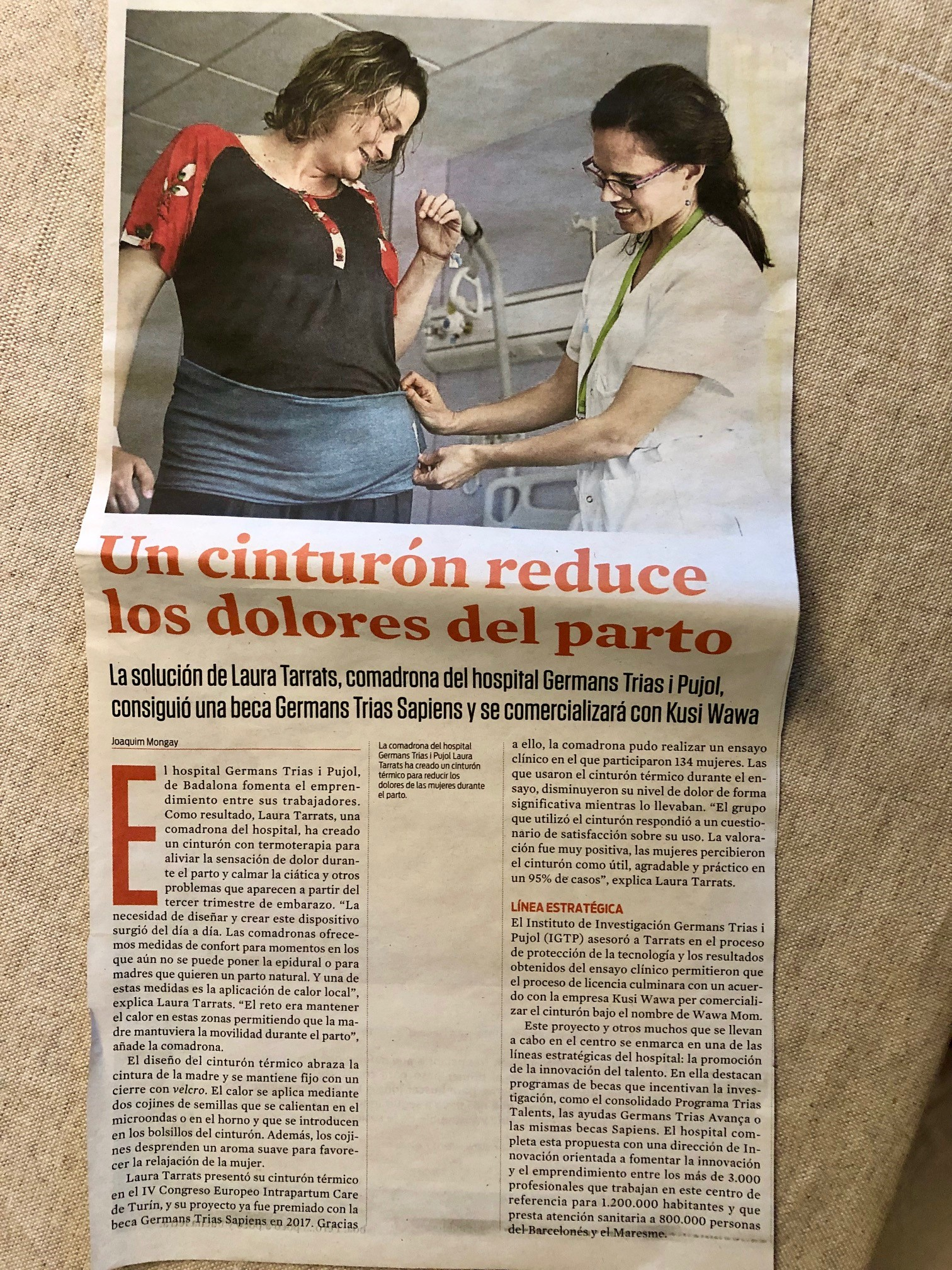 Kusi Wawa and Wawa Mom at La Vanguardia